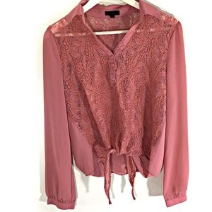 Mine Blouse Size Large Dusty Pink